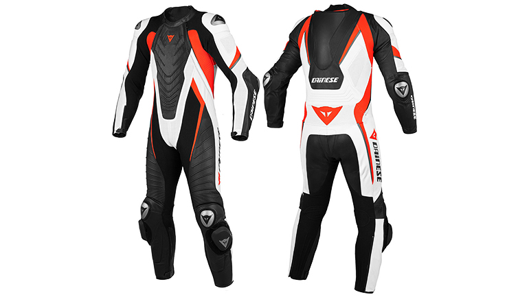 Dainese Laguna Seca Evo Perforated Leather Suit Black/Black/Fluorescent Red) – Bikers Zone