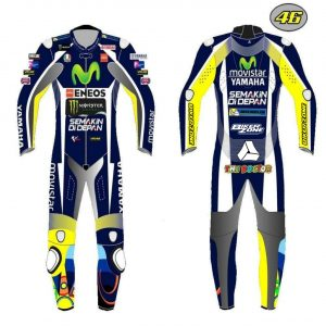 Yamaha Movistar Custom Design Motorbike Leather racing 1 & 2 piece Suit tailor made CE Approved Protection.