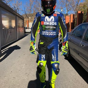 Yamaha Movistar Custom Design Motorbike Leather racing Suit tailor made CE Approved Protection.