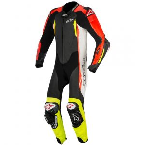 Alpinestars GP Tech v2 Leather One-Piece Suit  (Black/White/RED Fluo/Yellow Fluo)